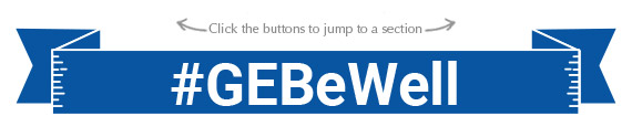 GE Be Well hashtag banner