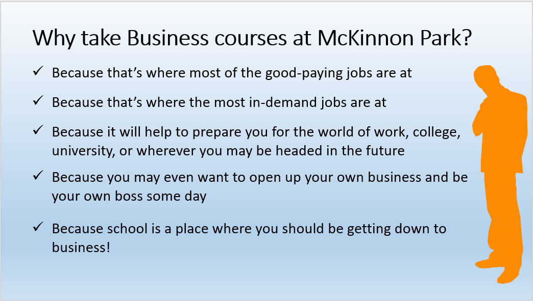 Why Take Business Courses at MPSS