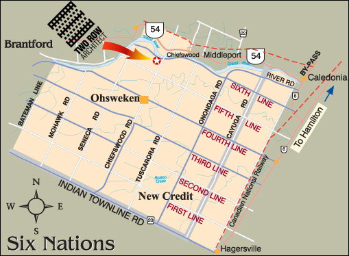 A map of Six Nations of the Grand River