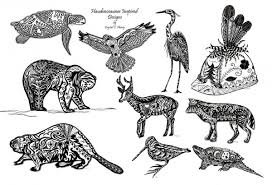A graphic depicts the animal clans of Six Nations of the Grand River