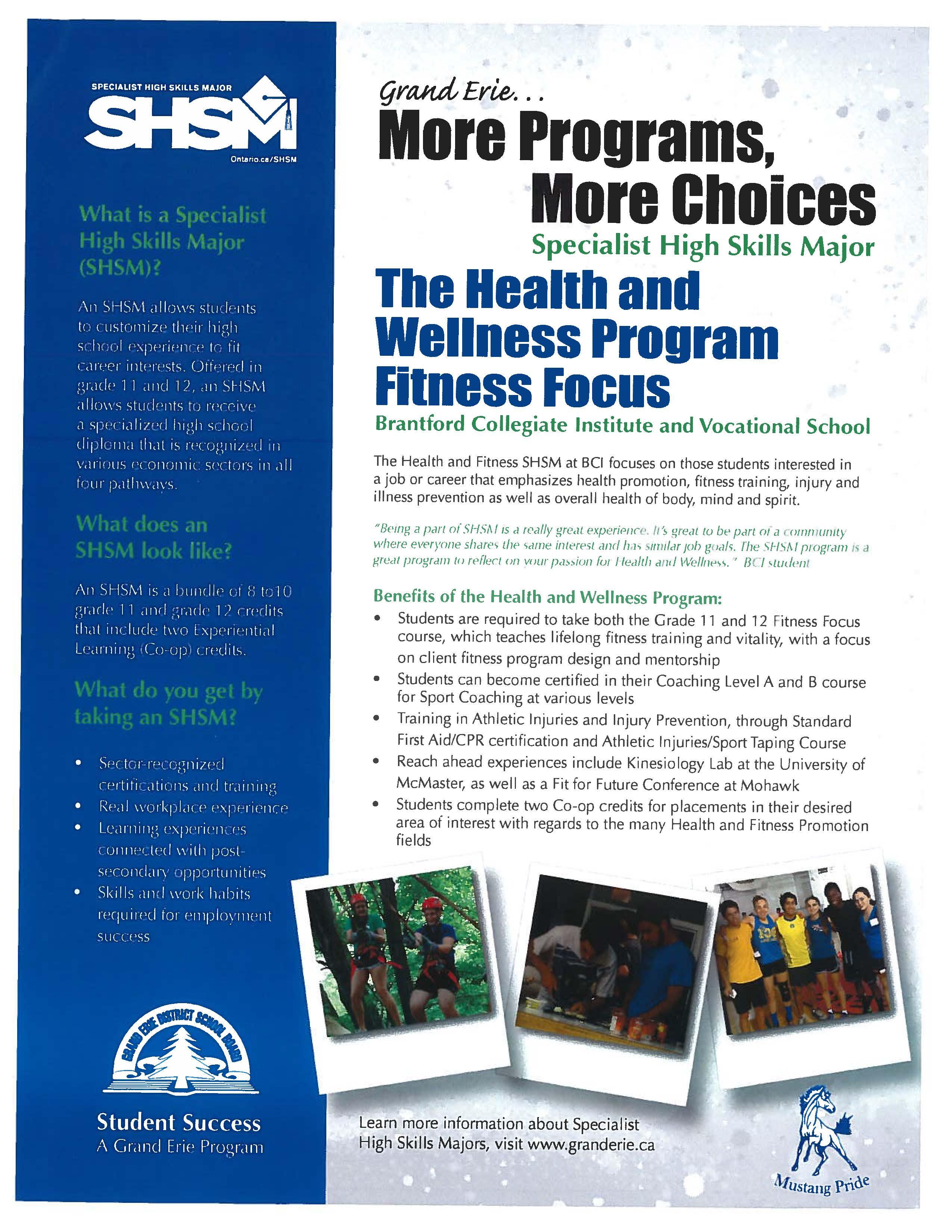 Grand Erie District School Board :: SHSM Programs