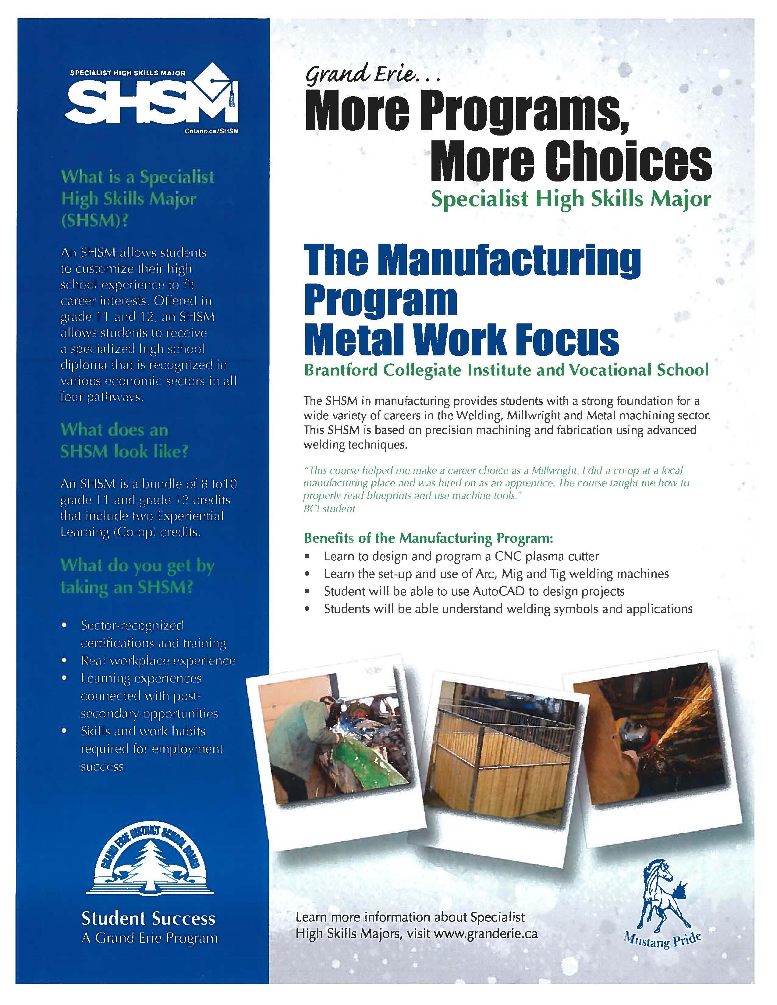 magasin en ligne achat spécial bonne vente Grand Erie District School Board :: SHSM Programs