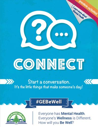 Poster for Be Well campaign promotes Connect