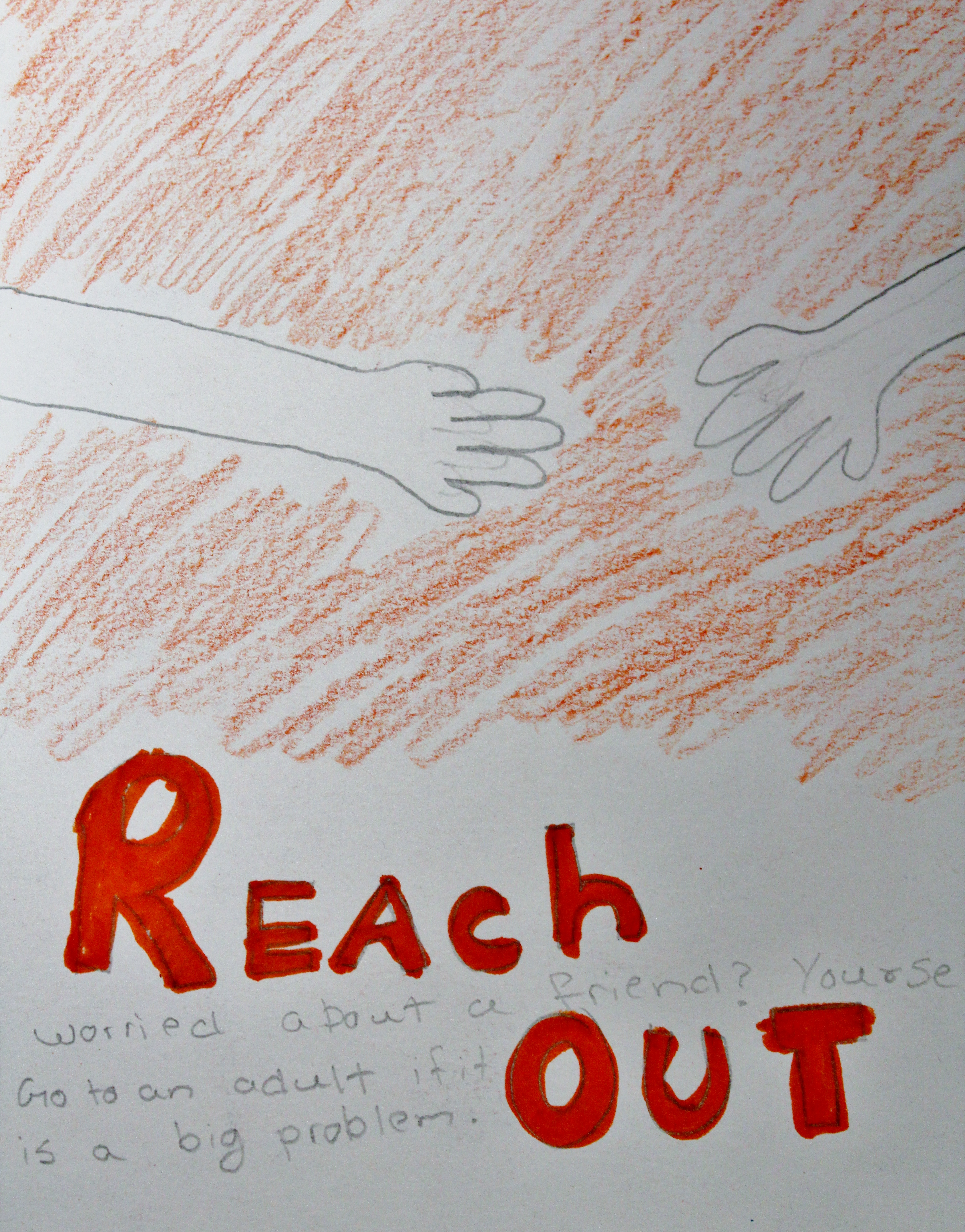 Elementary students expressed their Be Well thoughts through art