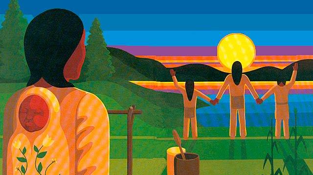 Traditional Six Nations art