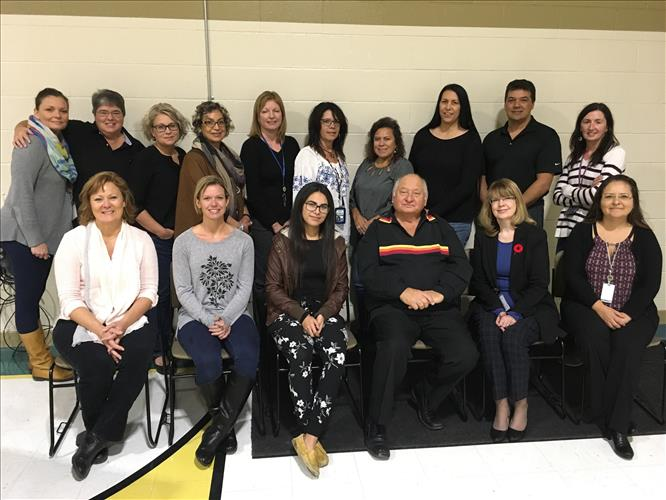 A group photo of Grand Erie educators