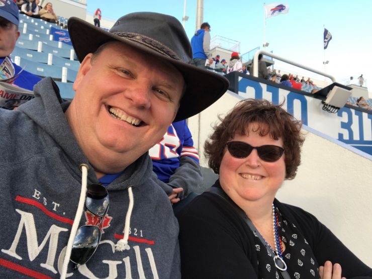 Dave and Lynn Abbey at a football game