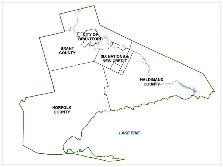 Grand Erie District School Board Boundary Map Zones