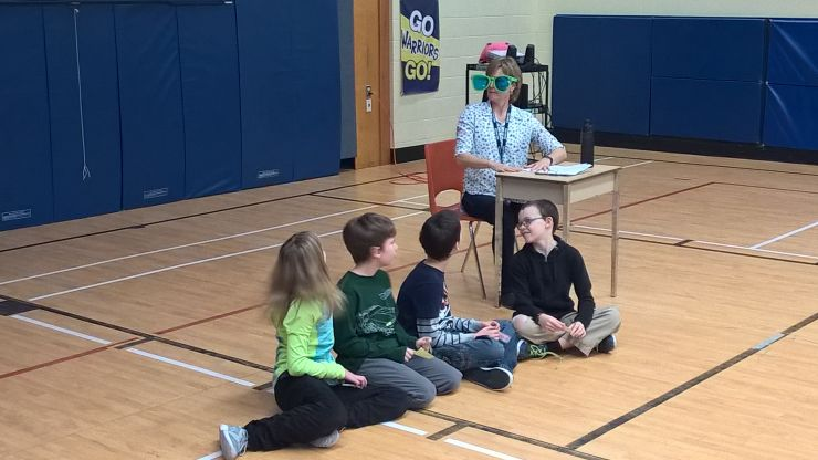 Staff and students participate in equity skit