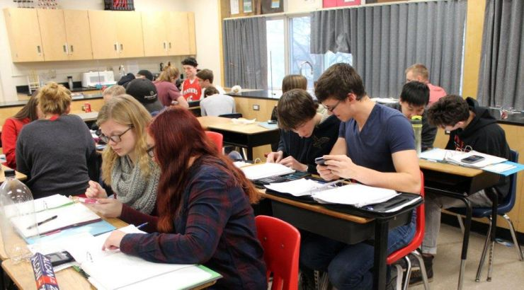 Ed Tech Paris District High School. Science Class students